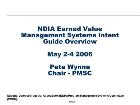 Earned Value Management - PowerPoint PPT Presentation