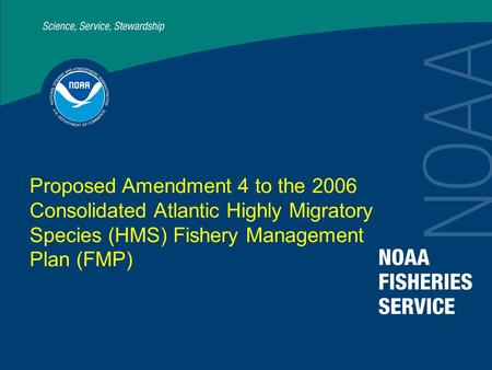 Proposed Amendment 4 to the 2006 Consolidated Atlantic Highly Migratory Species (HMS) Fishery Management Plan (FMP)