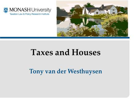 Tony van der Westhuysen Taxes and Houses. The Henry Recommendations Substantial increases in the maximum rates of rent assistance for income support recipients.