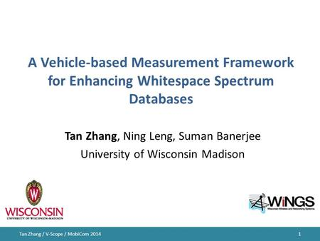 Tan Zhang, Ning Leng, Suman Banerjee University of Wisconsin Madison