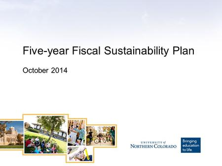 Five-year Fiscal Sustainability Plan October 2014.