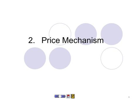 1 2.Price Mechanism 2 Chapter 2 : main menu 2.1 Nominal price and relative price Progress Checkpoint 1 2.2Demand Theory in Life 2.1 Progress Checkpoint.