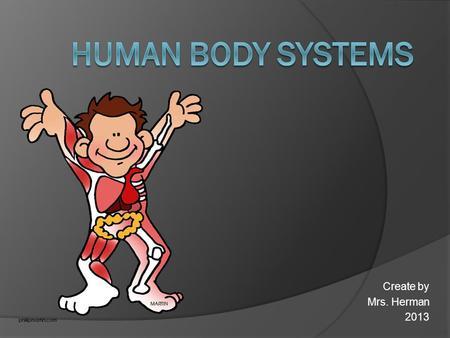 Human Body Systems Create by Mrs. Herman 2013.