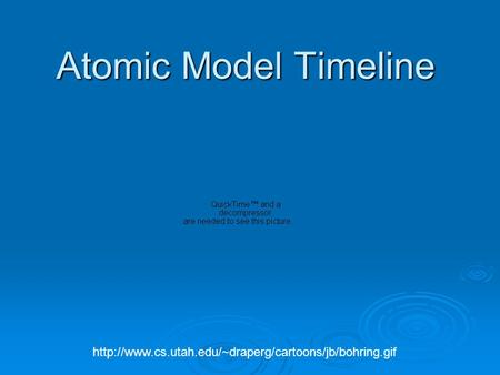<strong>Atomic</strong> Model Timeline http://www.cs.utah.edu/~draperg/cartoons/jb/bohring.gif.