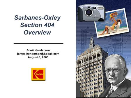 sarbanes oxley section 404 Section 404 – assessment of internal controls section 404 of the sarbanes-oxley act – assessment of internal controls following is an excerpt from the sarbanes-oxley act of 2002.