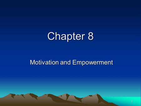 chapter 12 motivation and work Presentation on theme: myers' psychology chapter 12 motivation 1  motivation  22 motivation at work flow a completely, involved, focused state of .