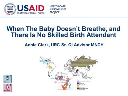 1 When The Baby Doesn't Breathe, and There Is No Skilled Birth Attendant Annie Clark, URC Sr. QI Advisor MNCH.