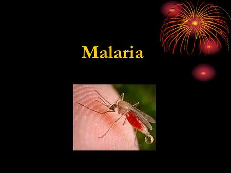 Malaria Alternative names: · Quartan malaria · Falciparum malaria · Blackwater fever · Tertian malaria.