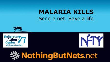MALARIA KILLS. Send a net. Save a life.. Mosquito Tag.
