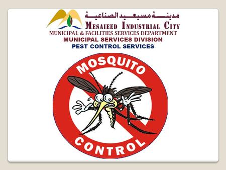 MUNICIPAL & FACILITIES SERVICES DEPARTMENT MUNICIPAL SERVICES DIVISION PEST CONTROL SERVICES.