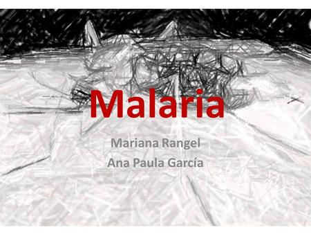 Malaria Mariana Rangel Ana Paula García. What is it? Malaria is caused by an infection of the red blood cells with a tiny organism or parasite called.