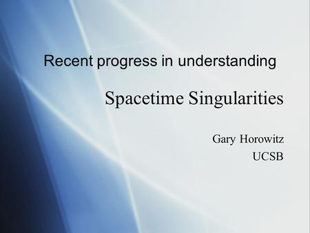 Spacetime Singularities
