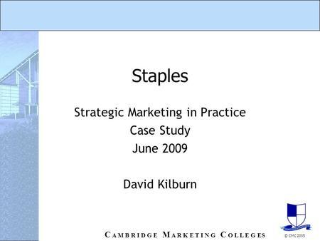 staples case study
