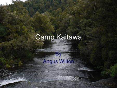 Camp Kaitawa By Angus Wilton. The morning started with a warm breeze as the Year 5's headed off to Camp. Little did they now about the amazing adventures.
