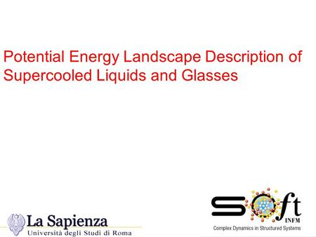 Potential Energy Landscape Description of Supercooled Liquids and Glasses.