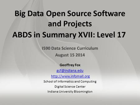 I590 Data Science Curriculum August