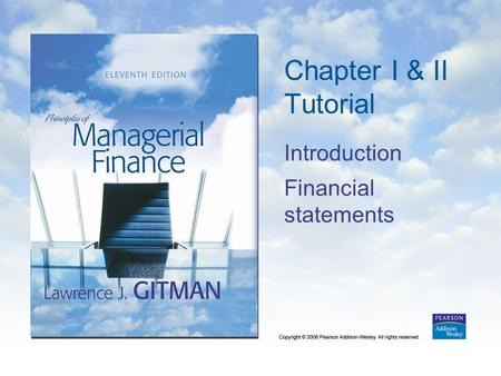 Chapter I & II Tutorial Introduction Financial statements.