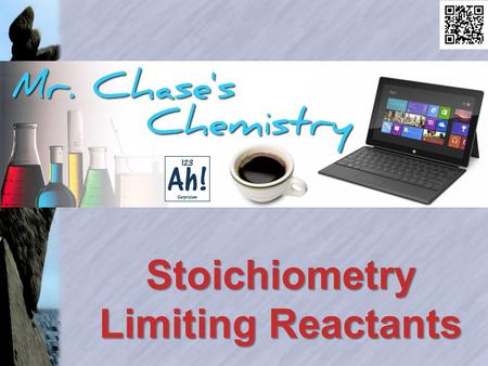 Stoichiometry Limiting Reactants. Stoichiometry Stoichiometry enables us to compare amounts of two substances in a balanced chemical reaction.