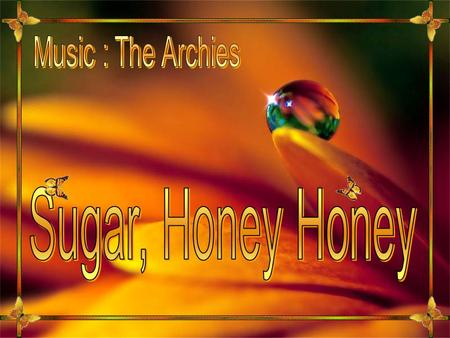 Music : The Archies Sugar, Honey Honey.