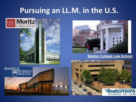Pursuing an LL.M. in the U.S. Boston College Law School.