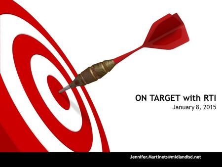 ON TARGET with RTI January 8, 2015