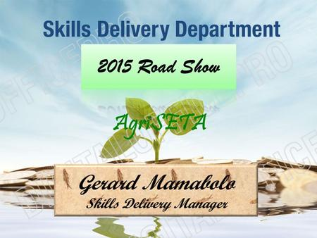 Skills Delivery Department