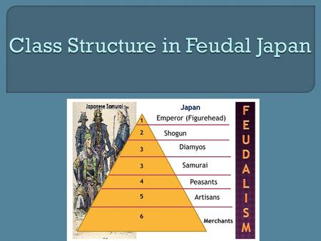 Class Structure in Feudal Japan