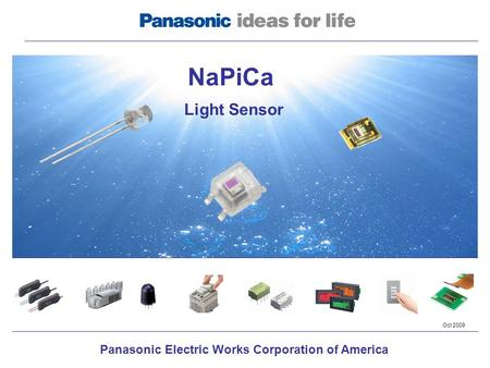 Panasonic Electric Works Corporation of America NaPiCa Light Sensor Oct 2009.