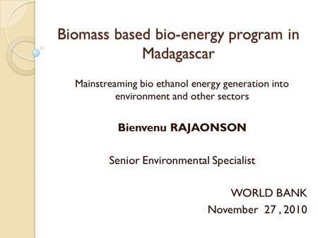 Bio Oil Energy For Rural Kenya By Gichuki Muchiri And