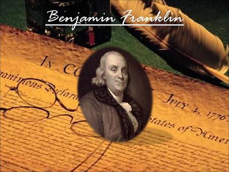 an analysis of the beliefs thoughts and ideas of benjamin franklin Benjamin franklin petitions congress january 17, 2006 marks the 300th anniversary of benjamin franklin's birth (january 17, 1706-april 17, 1790.