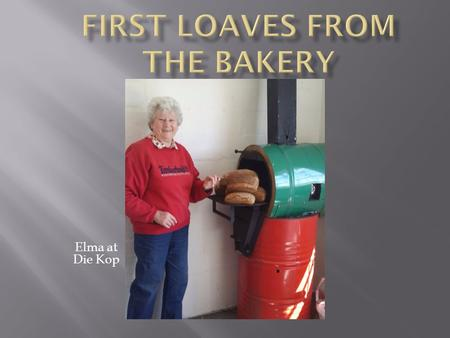 Elma at Die Kop. Introducing Vuka/Rainbow Trust Bakery at Die Kop Vuka Presenter, Lidia Tukutezi, demonstrates the baking of muffins and tries out the.