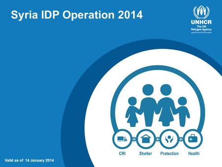 Syria IDP Operation 2014 Valid as of 14 January 2014.