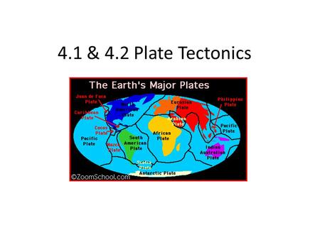 4.1 & 4.2 Plate Tectonics. As explorers began bringing back information about the world, map makers began to notice the coastlines of continents could.