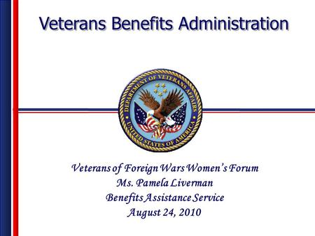 Veterans of Foreign Wars Women's Forum Benefits Assistance Service
