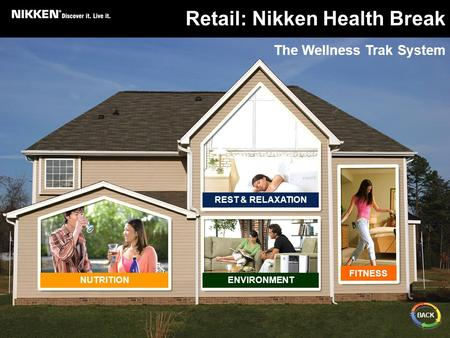 REST & RELAXATION NUTRITIONENVIRONMENT FITNESS Retail: Nikken Health Break The Wellness Trak System BACK.