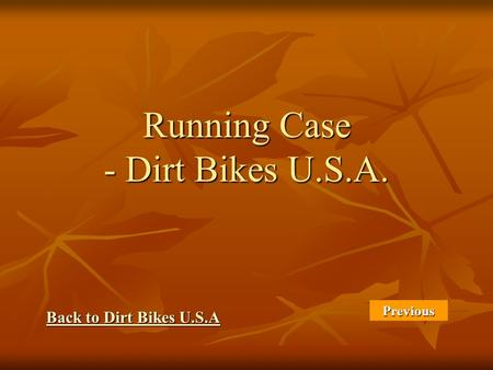 Running Case - Dirt Bikes U.S.A. Back to Dirt Bikes U.S.A Back to Dirt Bikes U.S.A Previous.