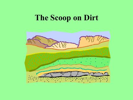 The Scoop on Dirt. Soil Soil is made up of weathered rock, including gravel, sand, and silt. Topsoil comes from subsoils and rocks beneath the surface.