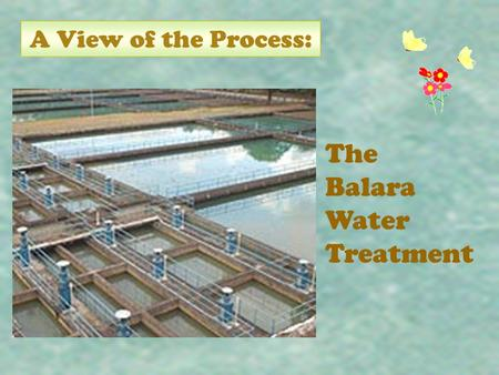 A View of the Process: The Balara Water Treatment.