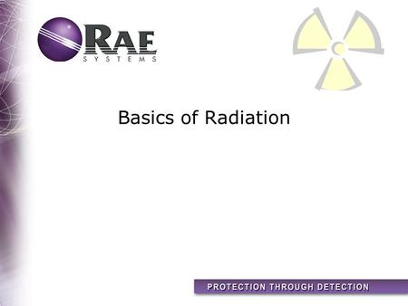 Basics of Radiation. 2 Topics Types of Radiation How Radiation Interacts With You Radiation Safety Why Measure Radiation Today Summary Radiation Equivalents.