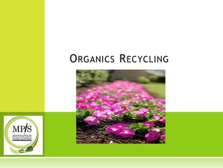 O RGANICS R ECYCLING. W HAT IS O RGANICS R ECYCLING ?  Recycling means turning trash into something useful.  Organics recycling is the recycling of.