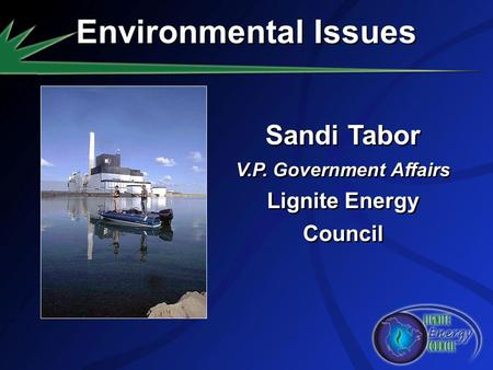 Sandi Tabor V.P. Government Affairs Lignite Energy Council Sandi Tabor V.P. Government Affairs Lignite Energy Council Environmental Issues.