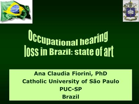 Ana Claudia Fiorini, PhD Catholic University of São Paulo PUC-SP Brazil.