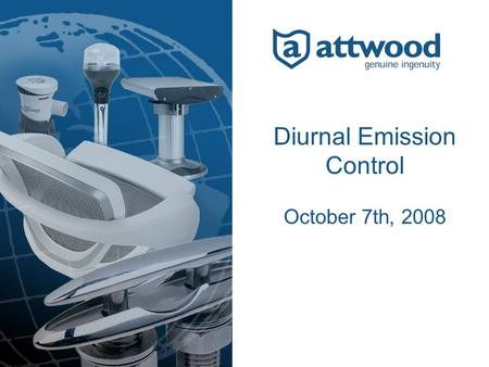 Diurnal Emission Control October 7th, 2008. Sources of Hydrocarbon Emissions 2 1.Permeation – through fuel tank walls 2.Spillage/Spitback – during fuel.