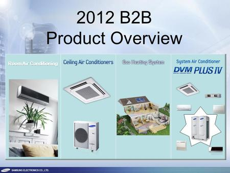 2012 B2B Product Overview. 2 ROOM AIR CONDITIONING RAC.