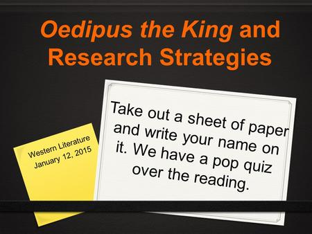 quiz on oedipus the king