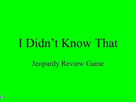 I Didn't Know That Jeopardy Review Game. $2 $5 $10 $20 $1 $2 $5 $10 $20 $1 $2 $5 $10 $20 $1 $2 $5 $10 $20 $1 $2 $5 $10 $20 $1 Finding Evidence Central.