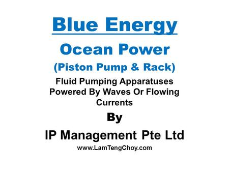 Fluid Pumping Apparatuses Powered By Waves Or Flowing Currents