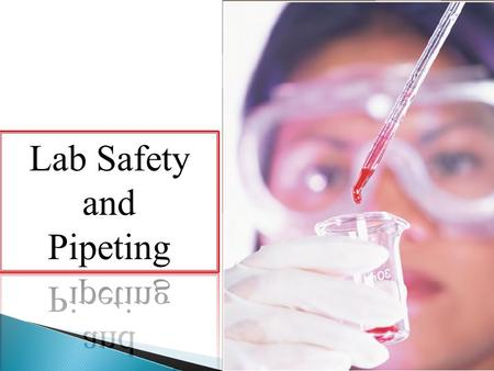 Lab Saftey The laboratory environment can be a hazardous place to work. Laboratory workers are exposed to numerous potential hazards including chemical,