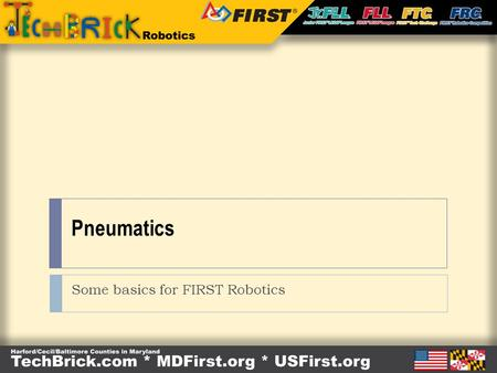 Some basics for FIRST Robotics