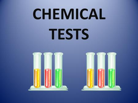 "CHEMICAL TESTS. What I Know About Chemicals ""Jot Thoughts"" Write what you know about chemicals on a sticky note. Write one idea per page. Share your ideas."